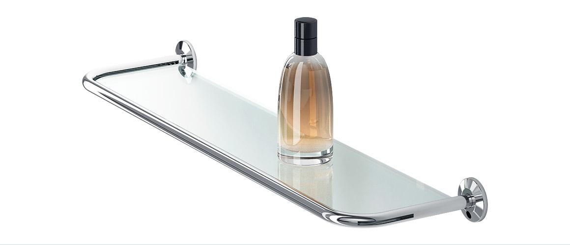 Bath Accessory / SHOWER GLASS SHELF | Fars-Inox
